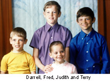 Terry Fox and siblings